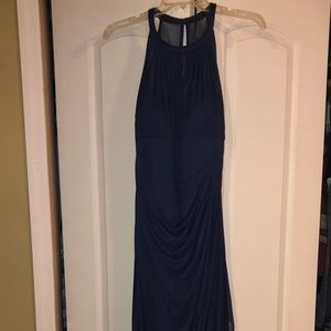 Long Dark Blue Formal Dress